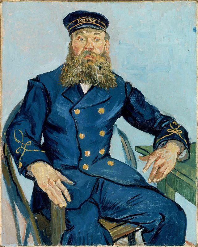Carteiro Joseph Roulin, por Vicent Van Gogh